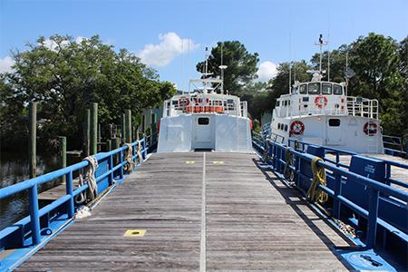 Crew boat deck